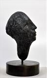 Dusk Head by William Cramer, Sculpture, Bronze