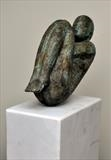 Fetal Figure by William Cramer, Sculpture, Bronze