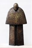 Monk by Bill Cramer, Sculpture, Bronze