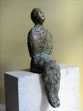 Sitter by Bill Cramer, Sculpture, Bronze