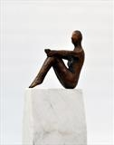 Sitting Figure by William Cramer, Sculpture, Bronze